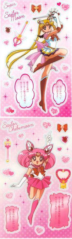 Sailor Moon & Chibi Moon stickers #SailorMoon