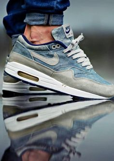 Denim and leather Nike air max Sneaks! Love it!