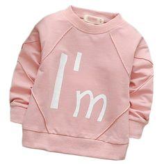 ddfb6cf87 9.55 |Aliexpress.com: Comprar Suton niño niña abrigos ropa de los niños 2018  nueva primavera algodón de manga larga o cuello carta de dibujos animados  moda ...