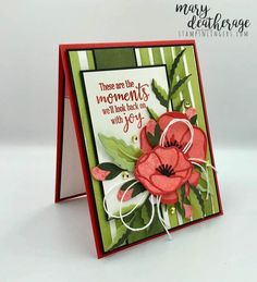 Stampin' Up! Just Us Girls Guest Designer – Peaceful Painted Poppies Birthday Card Poppy Cards, Funny Birthday Cards, Birthday Wishes, Birthday Gifts, Stamping Up Cards, Baby Kind, Sympathy Cards, Cool Cards, Flower Cards