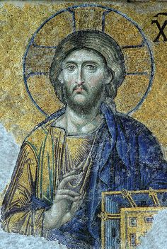 Christ Pantocrator Deesis mosaic Hagia Sophia - Byzantine art - Wikipedia, the free encyclopedia Christ Pantocrator, Early Christian, Christian Art, Christian Church, Hagia Sophia Istanbul, Arte Latina, Images Of Christ, Byzantine Art, Byzantine Mosaics