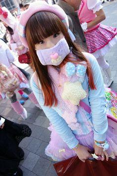 kawaï girl, Tokyo street,