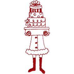 Christmas Shopper Embroidery Designs