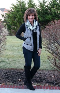 It's Day 19 of my 31 Days of Winter Fashion and today I'm styling that hugely popular herringbone vest.
