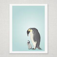 Love :: Penguins Giclee Print by Diesel & Juice