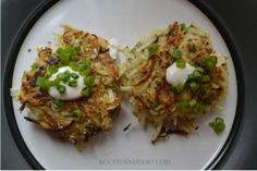 Sweet Potato Sauerkraut Latkes...  These don't look like they were made with 'sweet potatoes'... (I guess they are NOT the yams.. but the more whiter ones). /kj