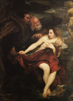 Sir Anthony van Dyck, Susanna and the Elders 1621-22 | Arash Noorazar Virtual Art Gallery  #17th #Classic #Painting #Sir #Anthony van #Dyck