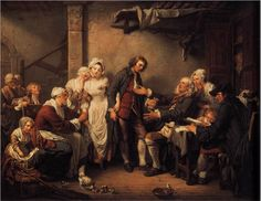 Jean-Baptiste Greuze, The Marriage Contract, 1761, oil on canvas, 92 x 117 cm (Musée du Louvre, Paris)