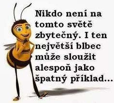 Nikdo není na tomto světě zbytečný. I ten největší blbec . Girly Quotes, True Quotes, Scorpio Zodiac Facts, Best Quotes Ever, Wise Words, Quotations, Haha, Funny Pictures, Funny Memes