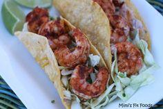 Baja Grilled Shrimp Tacos - Close