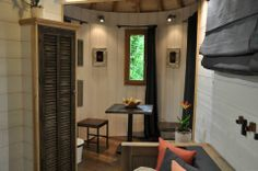 Cabane Puybéton at Châteaux Dans Les Arbres is a luxury treehouse with 1 bedroom, fireplace, spa bath and sauna. | www.facebook.com/SmallHou...