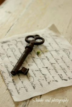 What a beautiful French last name! My maiden name is Rosier, French also. Thanks for the beautiful key and letter. S. .
