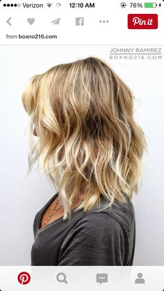 Lob with slight ombré  - found on Pinterest