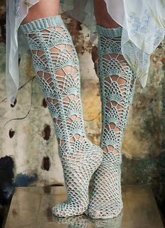 #13 Crochet Lace Stockings by Shiri Mor