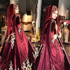 Setri Nur Hilal Our Model . Most admired this year and not in the . Hijabi Wedding, Wedding Hijab Styles, Muslim Wedding Dresses, Muslim Brides, Bridal Dresses, Hijabi Gowns, Wiccan Clothing, Red Frock, Bridal Hijab