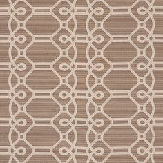 Ziz Embroidery | 71932 | in Mocha | With an intentionally irregular strie ground and a fanciful updated trellis pattern, Ziz Embroidery is truly unique, perfect for the sophisticate who appreciates the artisanal.