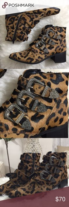 ASOS Cheetah Print Ankle Boots Worn once ASOS Shoes Ankle Boots & Booties