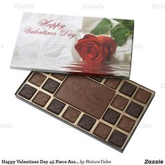 http://www.zazzle.com/collections/bathroom_decor_shower_curtains_bath_mats_and_more-119627790334660277?rf=238636000328089532 Happy Valentines Day 45 Piece Assortment/Rose 45 Piece Assorted Chocolate Box