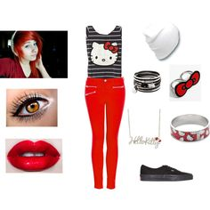 Emo outfit #4, created by teresa-warhell on Polyvore