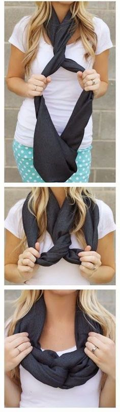 The Twist - Love this idea for wearing an infinity scarf.