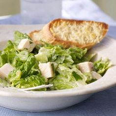 Romaine and Turkey Salad with Creamy Avocado Dressing Recipe | MyRecipes.com