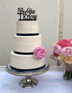 I Love You I Know    WHAT YOU GET: One 3 tall I Love You I Know cake topper made from 1/8 inch thick acrylic. MEASUREMENTS: 5.9 wide and 3 tall