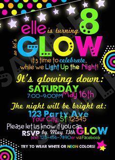 glow in the dark printable invitations glow in the dark invitation printable by