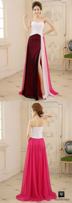 In stock chic chiffon sweetheart neckline a-line prom dress. Gored skirt is special in the crowd. (SOD81473) - Adasbridal.com