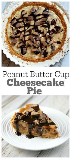Peanut Butter Cup Cheesecake Pie Recipe - from RecipeBoy.com