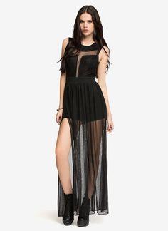 Sheer Cut-Out Maxi Dress | All Dresses