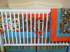 Fox Crib Set Ready to Ship by butterbeansboutique on Etsy