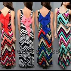 """Chevron long maxi dress big back bow NWOT Gorgeous stretchy long maxi dress summer sun beach dress -sleeveless. -Back Bow -chevron print -Fitted ,stretchy ,summer breezy fabric. -KINDLY CHECK MEASUREMENTS  Length(side seam)=47"""" Size: Small Bust: 30-34"""" Waist: 24-28"""" Hips: 32-36"""" Size: Medium Bust: 32-36""""Waist: 26-30"""" Hips: 34-38"""" Size: Large Bust: 34-38"""" Waist: 28-32"""" Hips: 36_42""""    *PRICES IS FIRM UNLESS BUNDLED Boutique  Dresses Maxi"""