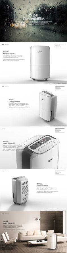 winix dehumidifier on Behance