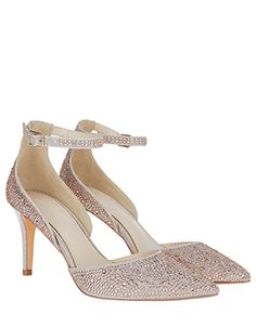 Encrusted with diamantes, our Dijana court shoes will have all eyes on your  party look