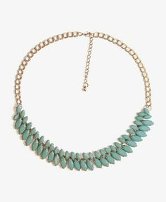 Marquis Faux Stone Necklace $6.80