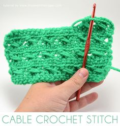 The Cable Stitch Crochet Tutorial is an easy crochet pattern that can add a fun texture to your crochet projects without requiring too much effort. In this crochet stitch tutorial, a step-by-step photo tutorial helps you learn to crochet the pattern. Different Crochet Stitches, Easy Crochet Stitches, Easy Crochet Patterns, Free Crochet, Crochet Borders, Crochet Designs, Crochet Crafts, Crochet Projects, Crochet Tutorials