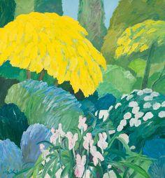 Roger Mühl (French, 1929-2008), Jardin au printemps [Garden in Spring], 1998. Oil on canvas, 129.7 x 120 cm.