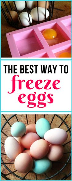 Easiest and best method for storing extra eggs for months in the freezer!