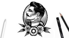 How to draw a gentleman face Traditional Tattoo Black And Grey, Traditional Hand Tattoo, Traditional Tattoo Old School, Neo Traditional, American Traditional, Old Tattoos, Black Ink Tattoos, Cute Tattoos For Women, Tattoos For Guys