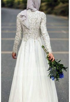 Shop discount Bohemian Long Sleeve Muslim 2016 Beading Sequins Wedding Dress WNWD4125
