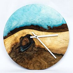 Wanduhr mit Quarzuhrwerk diy clock – wooden diy – New Epoxy Epoxy Resin Wood, Diy Clock, Diy Wall Clocks, Wood Clocks, Diy Wood Projects, Diy Wall Decor, Wooden Diy, Resin Crafts, Wood Art