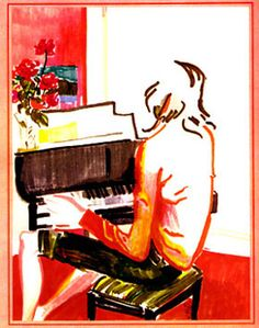 Upright Piano+Joni+Music+Art for the living room.