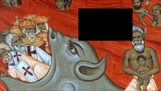 Defunctii filozofi germani Karl Marx si Friedrich Engels, alaturi de defunctul conducator al Iugoslaviei comuniste Iosip Broz Tito se regasesc pictati pe o scena reprezentând pescari în infern pe fresca unei biserici ortodoxe din Munteneg