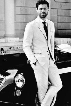 http://chicerman.com  gentlemenzone:  Meet the stylish man in Spain Mr.xabi alonso  #MENSUIT #TAILORSUIT