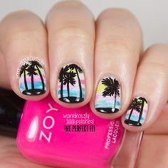wondrously polished x deb shops palm tree mani