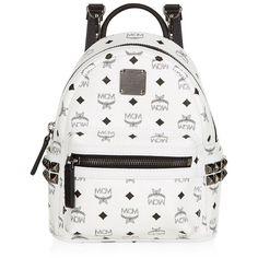 MCM Bebe Boo Backpack featuring polyvore, fashion, bags, backpacks, purses, mini backpack, studded backpack, convertible backpack, mcm and backpack crossbody