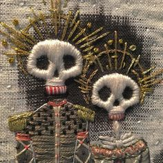 Kate walsh day of the dead art textile embroidery embellishment inspiration