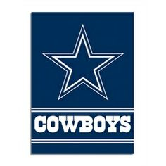 Support your favorite sports team, the Dallas Cowboys, at home, or in the office by hanging up this outdoor banner flag. The Dallas Cowboys officially licensed banner shows your team spirit with vibrant team colors. The NFL logo is center. Official Nfl Football, Nfl Football Teams, Broncos Fans, Cowboys Football, Sports Teams, Football Memes, Sports Logos, Sports Art, Dallas Cowboys Flag