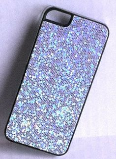 Silver Glitter Phone Case for iPhone 5 by CandyCells on Etsy