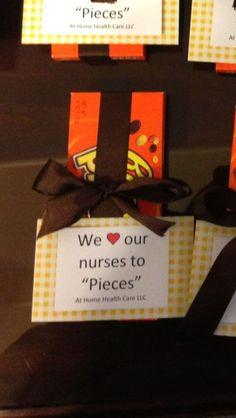One gift we gave the nurses for nurses week! For our beloved school nurse! Nurses Week Gifts, Staff Gifts, Nurse Gifts, Teacher Gifts, Ideas For Nurses Week, Nurse Appreciation Week, Employee Appreciation Gifts, Employee Gifts, Employee Rewards